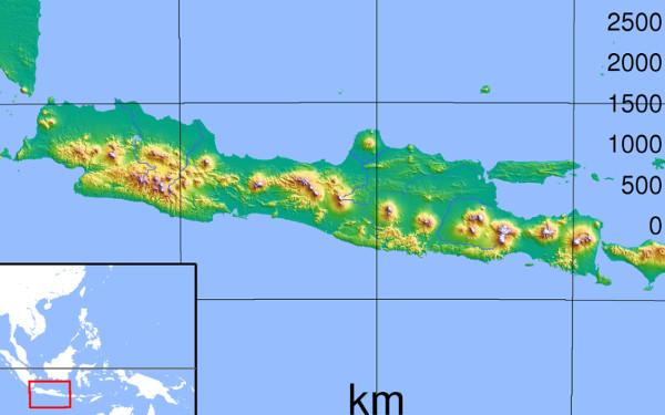 nama nama dataran rendah di pulau jawa
