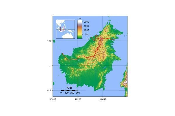 nama nama dataran rendah di pulau kalimantan
