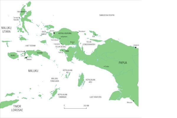 nama nama dataran rendah di pulau papua dan maluku