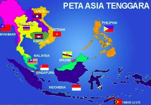 negara asia tenggara sebelah timur laos