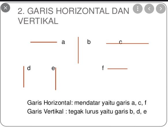 Gambar dari pola garis horizontal mendatar yaitu