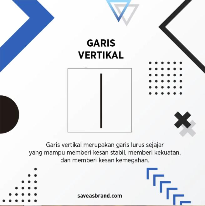 Garis vertikal memiliki makna