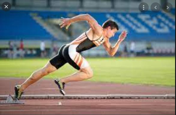 Posisi badan pada lari jarak pendek adalah