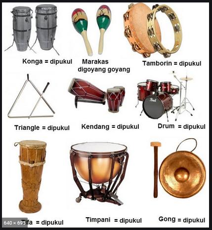 alat musik yang tidak bernada tetap disebut