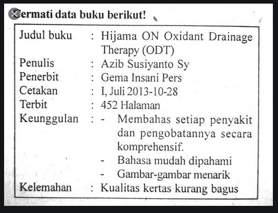 buatlah paragraf ulasan berdasarkan data buku tersebut