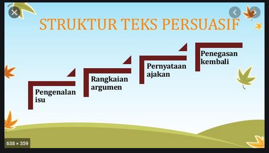 sebut dan jelaskan struktur teks persuasi