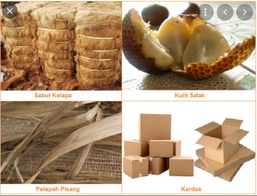 sebutkan bahan baku produk kerajinan dilihat dari kondisi wilayahnya beserta contohnya masing-masing 2 macam