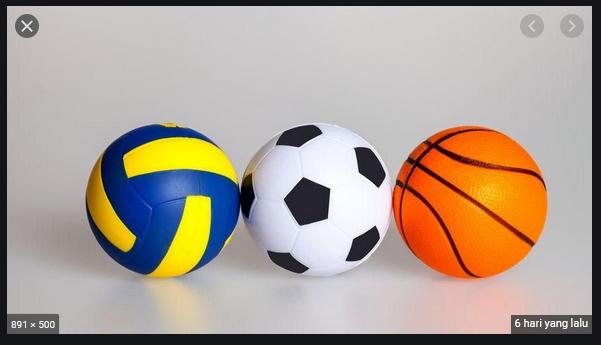 sebutkan tiga contoh bola yang digunakan dalam permainan bola beranting