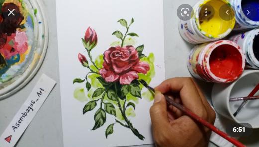 Cat air, cat minyak, tinta merupakan pewarna untuk menggambar ilustrasi dengan teknik