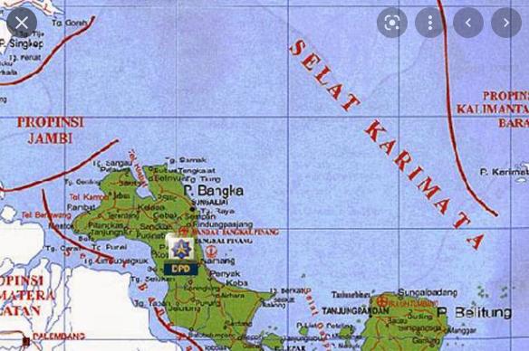 Pulau jawa dan kalimatan dipisahkan oleh laut