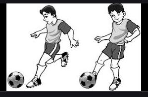 teknik menendang bola yang dilambungkan dengan punggung kaki dapat dilakukan dengan arah bola
